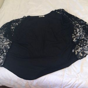 Sheer lace open top